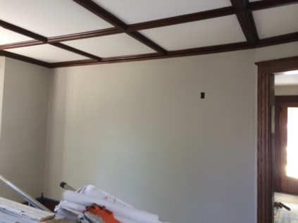 New wall in living room